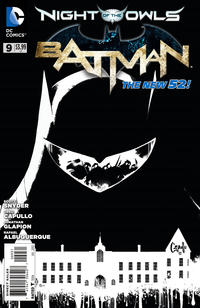 Cover Thumbnail for Batman (DC, 2011 series) #9 [Greg Capullo Black & White Cover]