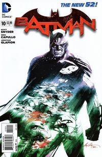 Cover for Batman (DC, 2011 series) #10 [Greg Capullo Black & White Cover]