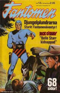 Cover Thumbnail for Fantomen (Semic, 1963 series) #12/1974