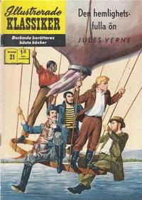 Cover Thumbnail for Illustrerade klassiker (Williams Förlags AB, 1965 series) #21 [HBN 165] (4:e upplagan) - Den hemlighetsfulla ön