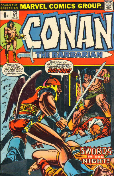 Cover for Conan the Barbarian (Marvel, 1970 series) #23 [British Price Variant]