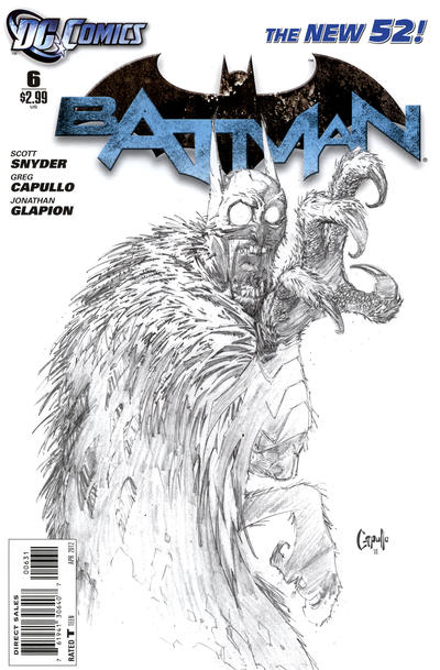 Cover for Batman (DC, 2011 series) #6 [Gary Frank Variant Cover]