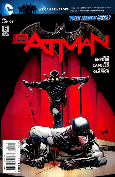 Cover for Batman (DC, 2011 series) #5 [Combo-Pack]