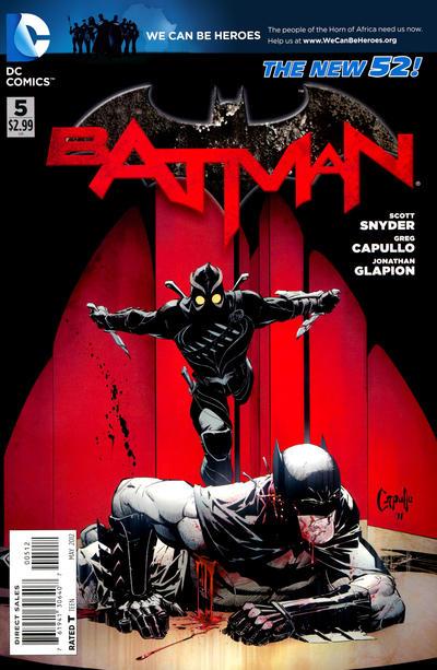 Cover for Batman (DC, 2011 series) #5 [Greg Capullo Black & White Wraparound Cover]