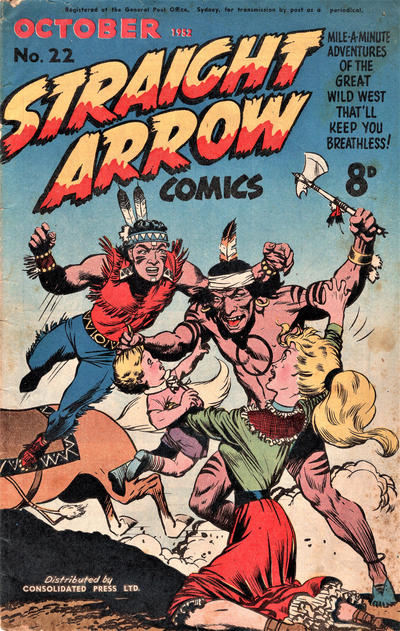 Cover for Straight Arrow Comics (Magazine Management, 1950 series) #22