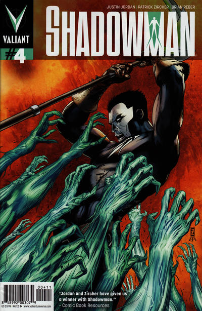Cover for Shadowman (Valiant Entertainment, 2012 series) #4 [Cover B - Dave Johnson]