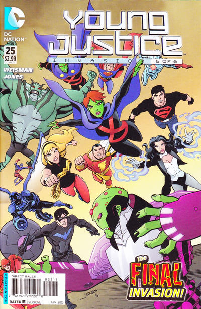 Cover for Young Justice (DC, 2011 series) #25 [Direct Sales]