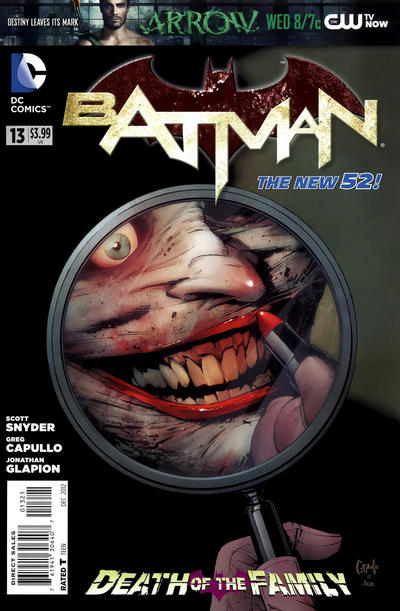 Cover for Batman (DC, 2011 series) #13 [Newsstand]