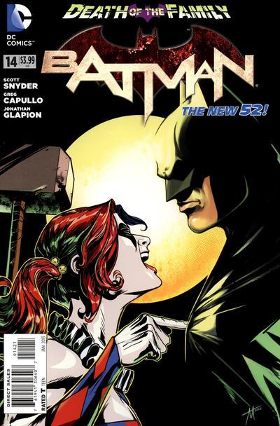 Cover for Batman (DC, 2011 series) #14 [Newsstand]