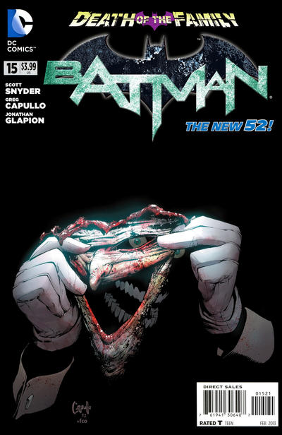 Cover for Batman (DC, 2011 series) #15 [Direct Sales]