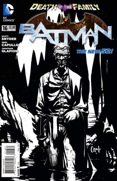 Cover for Batman (DC, 2011 series) #16 [Greg Capullo Black and White Variant Cover]