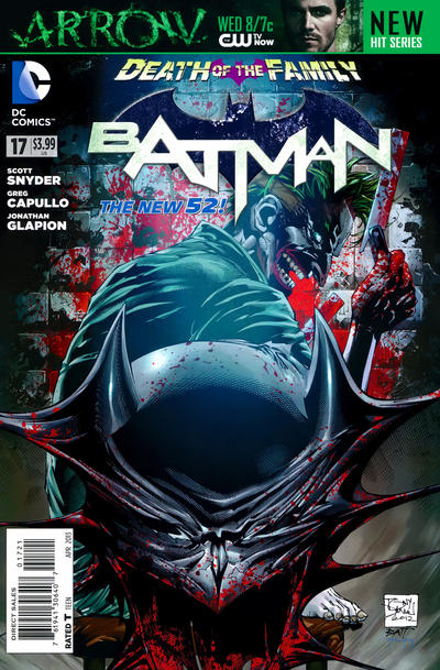 Cover for Batman (DC, 2011 series) #17 [Greg Capullo Black & White Cover]