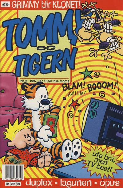Cover for Tommy og Tigern (Bladkompaniet / Schibsted, 1989 series) #9/1997