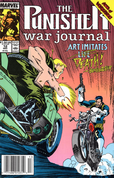 Cover for The Punisher War Journal (Marvel, 1988 series) #12 [Newsstand]