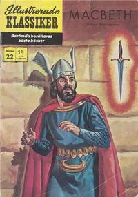 Cover Thumbnail for Illustrerade klassiker (Williams Förlags AB, 1965 series) #22 [HBN 165] (2:a upplagan) - MacBeth