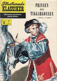 Cover Thumbnail for Illustrerade klassiker (Williams Förlags AB, 1965 series) #18 [HBN 165] (3:e upplagan) (Beatserien) - Prinsen och tiggargossen