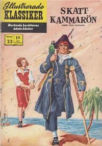 Cover Thumbnail for Illustrerade klassiker (Williams Förlags AB, 1965 series) #23 [HBN 165] (3:a upplagan) (Jättebilder) - Skattkammarön