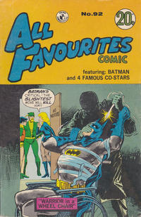 Cover Thumbnail for All Favourites Comic (K. G. Murray, 1960 series) #92