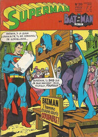 Cover for Superman et Batman et Robin (Sage - Sagédition, 1969 series) #20