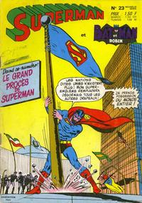 Cover Thumbnail for Superman et Batman et Robin (Sage - Sagédition, 1969 series) #23