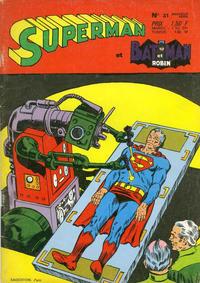 Cover Thumbnail for Superman et Batman et Robin (Sage - Sagédition, 1969 series) #31