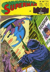Cover Thumbnail for Superman et Batman et Robin (Sage - Sagédition, 1969 series) #40