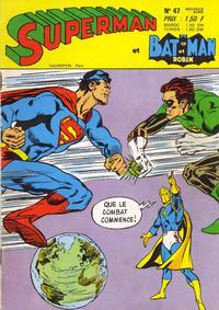 Cover Thumbnail for Superman et Batman et Robin (Sage - Sagédition, 1969 series) #47