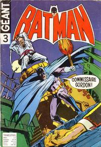 Cover Thumbnail for Batman Géant (Sage - Sagédition, 1972 series) #3