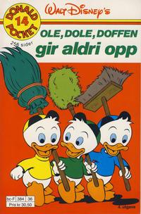 Cover Thumbnail for Donald Pocket (Hjemmet / Egmont, 1968 series) #14 - Ole, Dole, Doffen gir aldri opp [4. opplag]