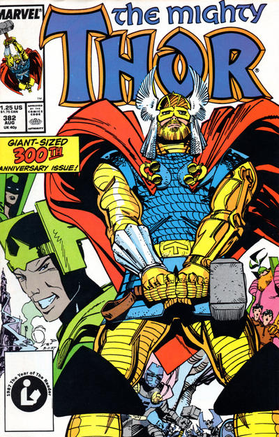Cover for Thor (Marvel, 1966 series) #382 [Direct]