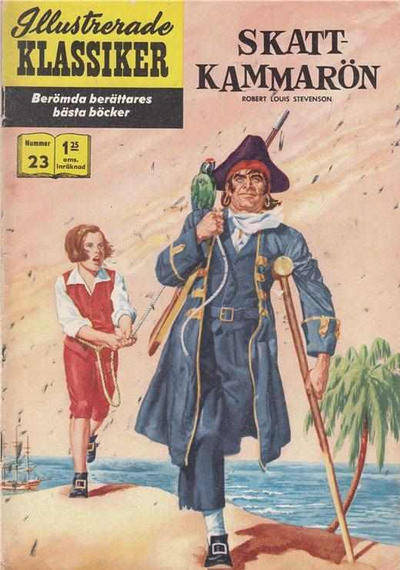 Cover for Illustrerade klassiker (Williams Förlags AB, 1965 series) #23 [HBN 165] (4:e upplagan) (Korak) - Skattkammarön