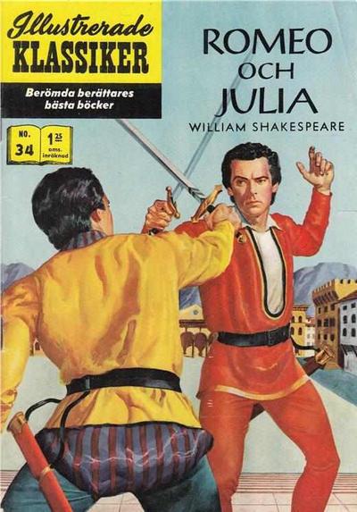 Cover for Illustrerade klassiker (Williams Förlags AB, 1965 series) #34 - Romeo och Julia [[HBN 165] (2:a upplagan)]