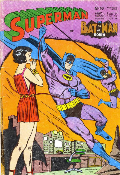 Cover for Superman et Batman et Robin (Sage - Sagédition, 1969 series) #16