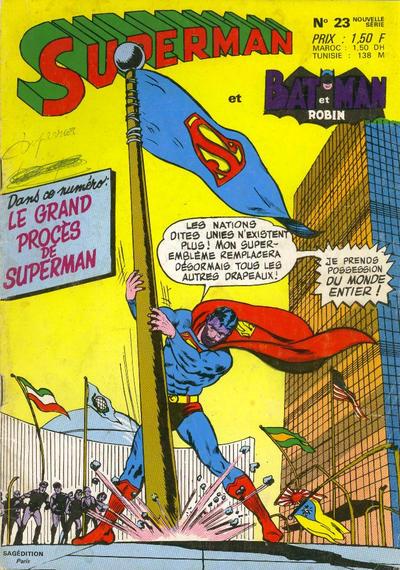 Cover for Superman et Batman et Robin (Sage - Sagédition, 1969 series) #23