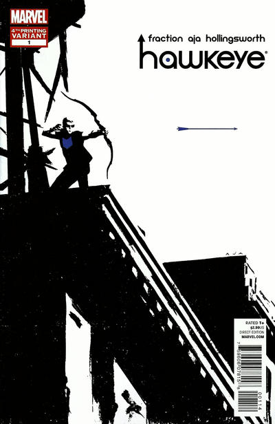Cover for Hawkeye (Marvel, 2012 series) #1 [3rd Printing Cover by David Aja]