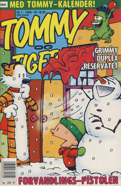 Cover for Tommy og Tigern (Bladkompaniet / Schibsted, 1989 series) #1/1998