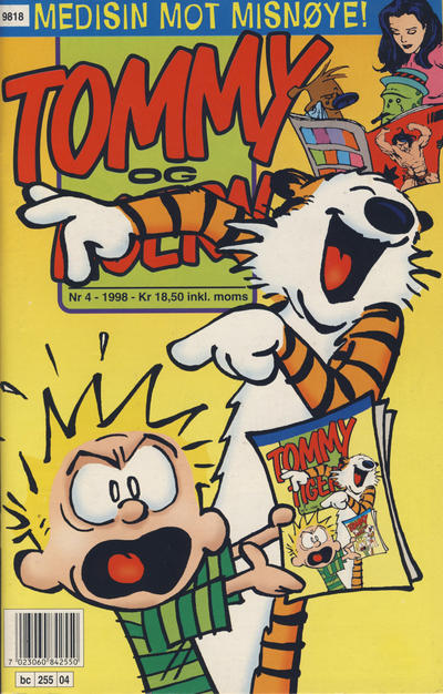 Cover for Tommy og Tigern (Bladkompaniet / Schibsted, 1989 series) #4/1998