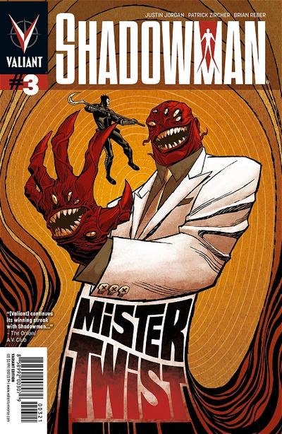 Cover for Shadowman (Valiant Entertainment, 2012 series) #3 [Cover A - Patrick Zircher]