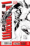 Cover Thumbnail for Savage Wolverine (2013 series) #1 [Joe Quesada Black & White Variant]