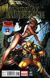 Cover Thumbnail for Savage Wolverine (2013 series) #1 [J. Scott Campbell Mile High Comics Variant]