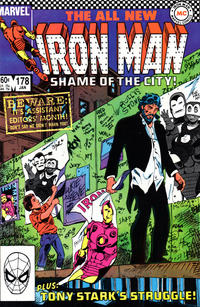 Cover for Iron Man (Marvel, 1968 series) #178 [Direct Edition]