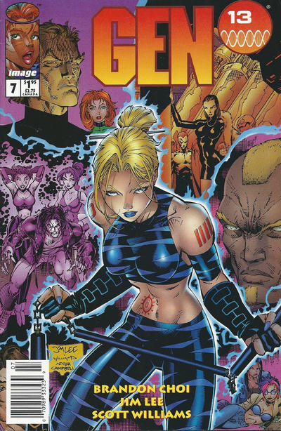 Cover for Gen 13 (Image, 1995 series) #7 [Newsstand]