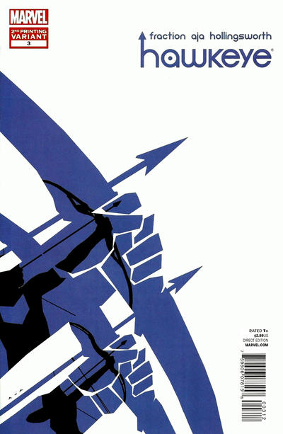 Cover for Hawkeye (Marvel, 2012 series) #3 [Second Printing Variant]