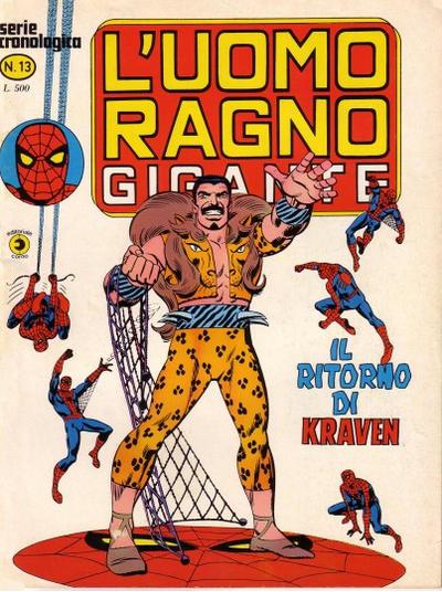 Cover for L'Uomo Ragno Gigante (Editoriale Corno, 1976 series) #13