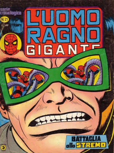 Cover for L'Uomo Ragno Gigante (Editoriale Corno, 1976 series) #21