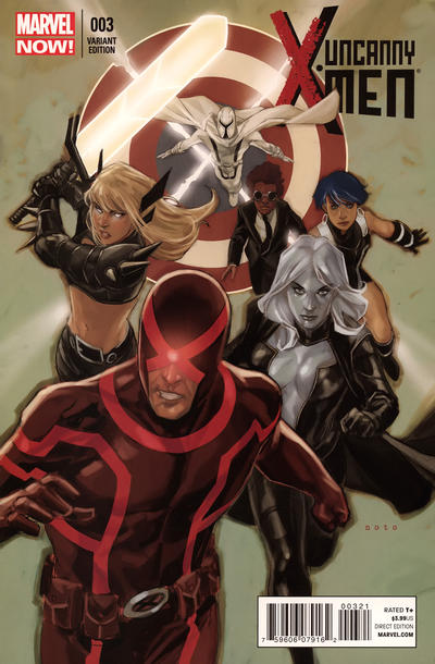 Cover for Uncanny X-Men (Marvel, 2013 series) #3 [2nd Printing]