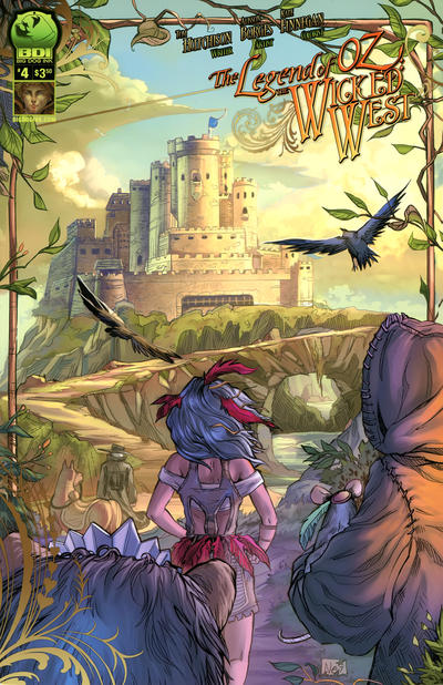 Cover for Legend of Oz: The Wicked West (Big Dog Ink, 2012 series) #4 [Cover A - Alisson Borges]