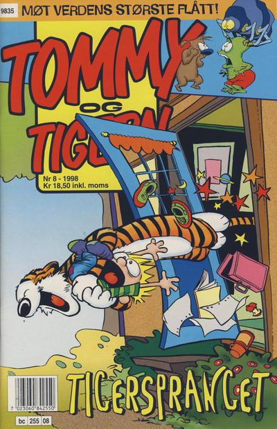 Cover for Tommy og Tigern (Bladkompaniet / Schibsted, 1989 series) #8/1998