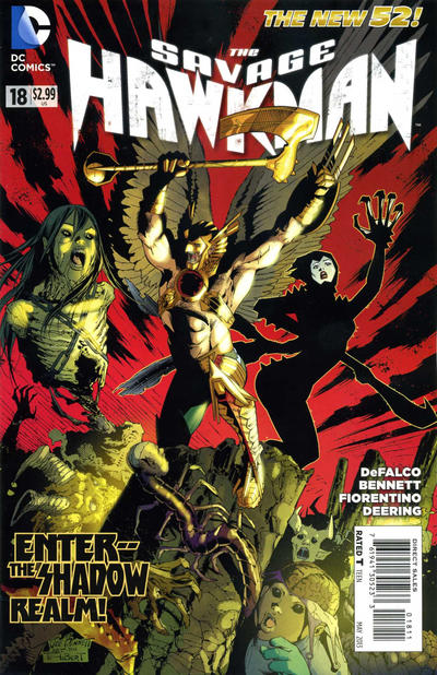Cover for The Savage Hawkman (DC, 2011 series) #18