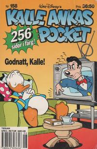 Cover Thumbnail for Kalle Ankas pocket (Serieförlaget [1980-talet], 1993 series) #158 - Godnatt, Kalle!